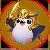 Saison 2019 - Siegreicher Pingu - Gold Sticker