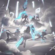 Jhin Kennen Leona Nidalee Twisted Fate DWG Splash Concept 02