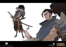 Yasuo Brüder der Blutbefleckten Klinge Konzept 09