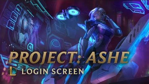 PROJEKT Ashe - ekran logowania