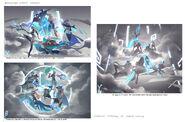 Jhin Kennen Leona Nidalee Twisted Fate DWG Splash Concept 05