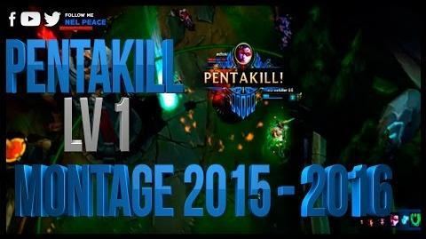 Epic Level 1 Pentakill Montage - League of Legends 2015-2016