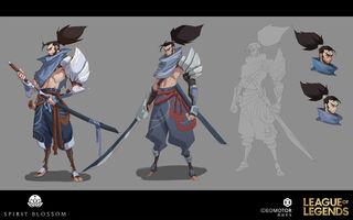 Yasuo Brüder der Blutbefleckten Klinge Konzept 21