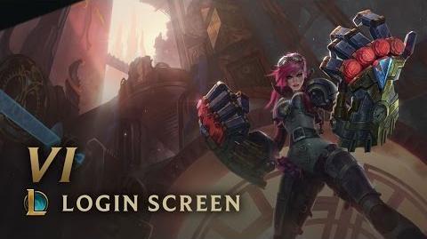Vi, the Piltover Enforcer - Login Screen