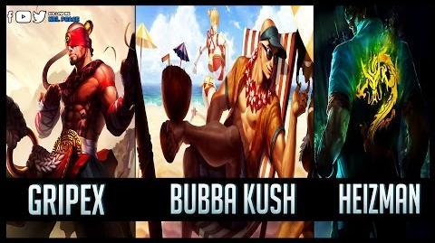 Bubba Kush vs Gripex vs Heizman - Gods of Lee Sin 😱