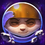 Astronauten-Teemo Chroma Beschwörersymbol
