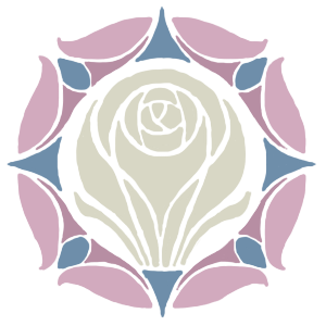 Rose on Laurent House Crest.