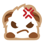 Poro sticker angry