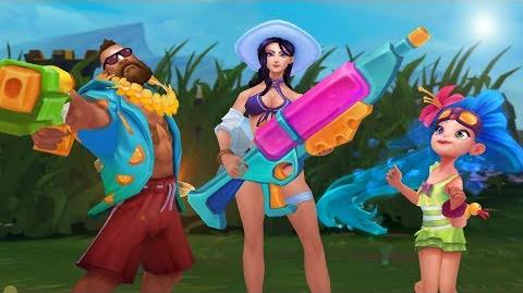 Unwind from the Grind Pool Party 2018 Event Trailer - League of Legends