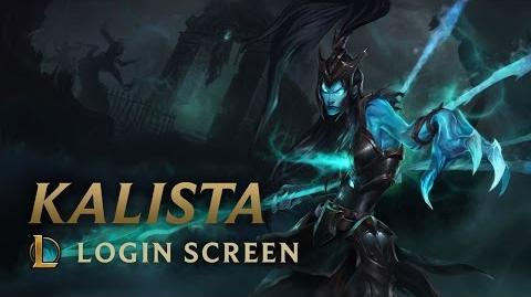 Kalista, the Spear of Vengeance - Login Screen