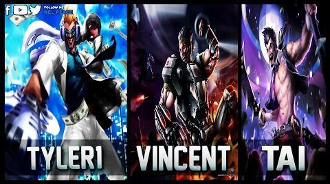 Tyler1 vs Vincent vs Tai Draven - Gods of Draven 😱