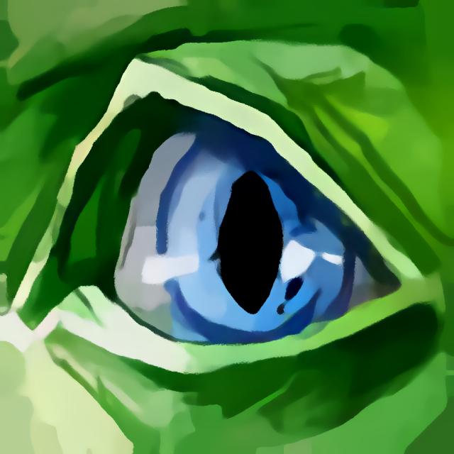 Geklautes getarntes Auge