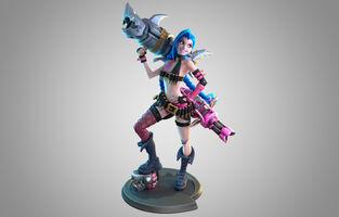 Jinx Statue model 01