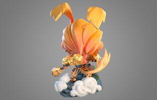 Wukong Strahlender Statue model 02
