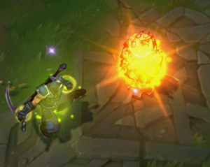 Grasp of the Undying empowered attack VFX