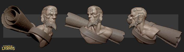 Ryze 3D Skulptur 2