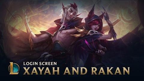 Xayah i Rakan - ekran logowania