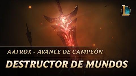 Aatrox Destructor de mundos Avance de campeón - League of Legends