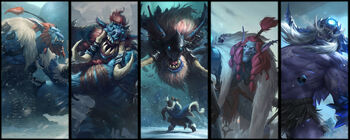 Different frost-trolls