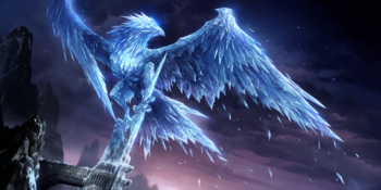 The Freljordian Demi-god of Icy Winds and Frost, Anivia.