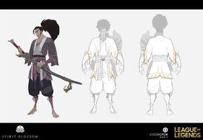 Yasuo Brüder der Blutbefleckten Klinge Konzept 27