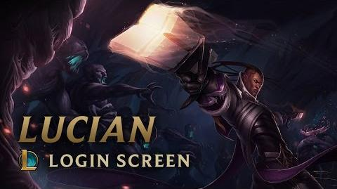 Lucian, the Purifier - Login Screen