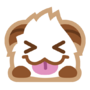 Poro sticker tongue