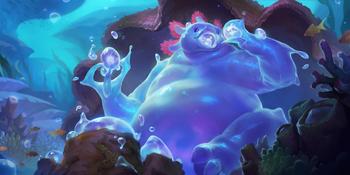 A Bubble bear eating bubbles.