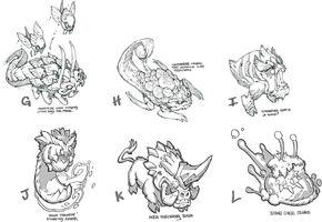 Kluft der Beschwörer Update Monster Konzept 02