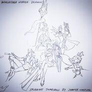Jhin Kennen Leona Nidalee Twisted Fate DWG Splash Concept 01