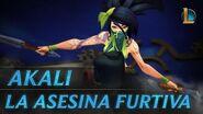 Akali La Asesina Furtiva Tráiler de campeón - League of Legends