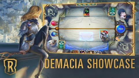 Demacia Region Showcase Gameplay - Legends of Runeterra