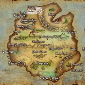 Map of Runeterra, a planet in the Physical realm.