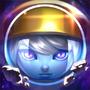 Astronauten-Poppy Chroma Beschwörersymbol
