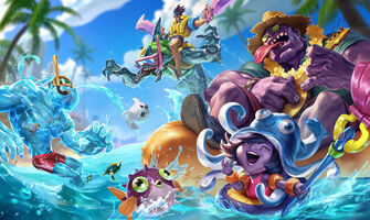 Poolparty-Skins Splash Konzept