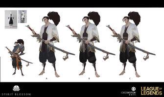 Yasuo Brüder der Blutbefleckten Klinge Konzept 26