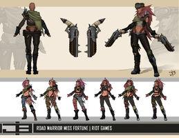 Miss Fortune VU Straßenkriegerin- Konzept