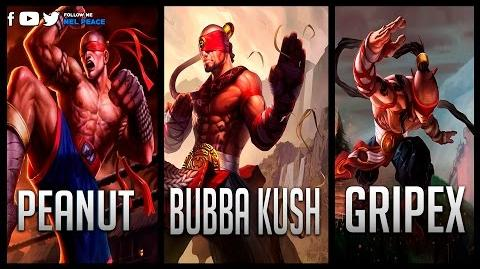 Peanut vs Gripex vs Bubba Kush - Gods of Lee Sin 2017 😱