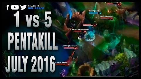 One vs Five Pentakill - July 2016 - Best Pentakills Ever 2016