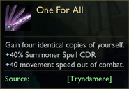 2020 One For All tooltip