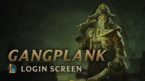 Captain Gangplank - Login Screen
