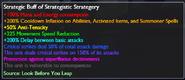 Strategic Buff of Strategistic Strategy