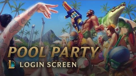 Pool Party - Login Screen