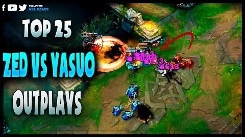 "Top 25 ""Amazing Outplays"" Zed vs Yasuo (League of Legends)"
