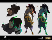 Yasuo Kin of the Stained Blade Concept 19