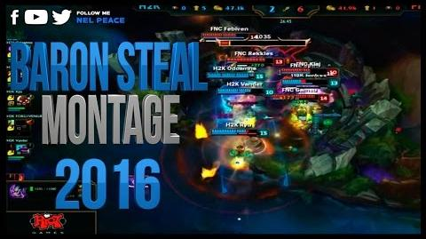 Baron Steal Montage - ft Sneaky Gross Gore Imaqtpie - Epic Baron Steals 2016