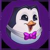 Hype Pengu Purple Emote
