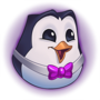 Hype Pengu Purple Emote