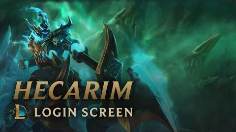 Hecarim, Cień Wojny - Ekran logowania