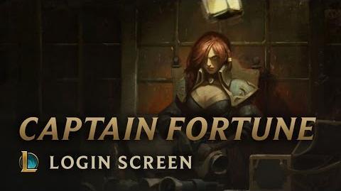 Kapitan Fortune - ekran logowania